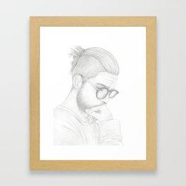 Top Knot Framed Art Print