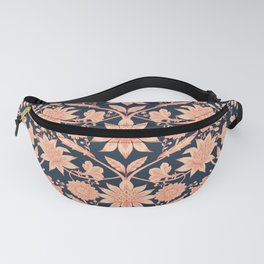 Pink and Navy Rhododendron Print Fanny Pack