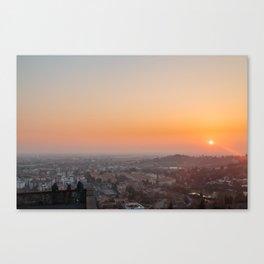 colorful sunset in Bergamo Canvas Print