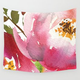 June Peonies Wall Tapestry