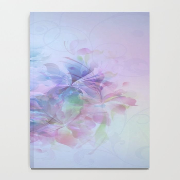Soft Elegant Pastel Floral Abstract Notebook