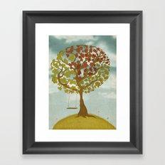 All Seasons Tree Framed Art Print