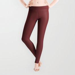 Plain Currant Red Monochrome Leggings