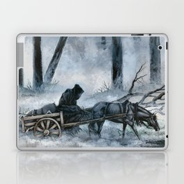 Grim Reaper with Horse in the Woods Laptop & iPad Skin