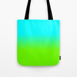 neon green, neon orange, ombre shade, color fade, neon, green, yellow, orange, ombre, shade, color, Tote Bag