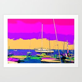 Boats in the Rainbow Art Print