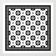 Victorian Floor Tile Pattern #3 Art Print