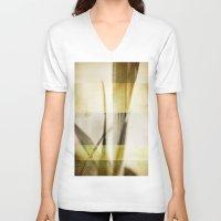 grunge V-neck T-shirts featuring Grunge by Fine2art