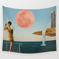sailing Wall Tapestries featuring Sailing by Nope