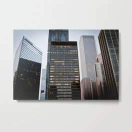 Day in Chicago Metal Print