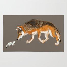 Italian Wolf & Stoat (c) 2017 Rug