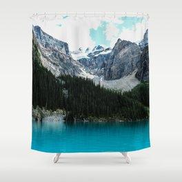 Moraine lake Wander (landscape) Shower Curtain