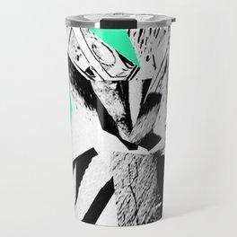 Glitch Scrunch Green Travel Mug