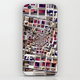 White House With Spinning 3D Cubes iPhone Skin