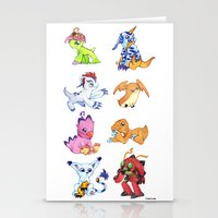 digimon Stationery Cards featuring Digimon Group by Catus