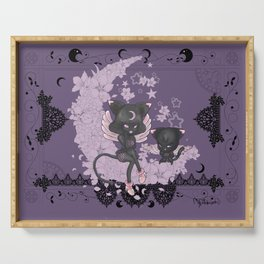 Black Cat Tsuki Serving Tray