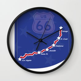 Route66 Wall Clock