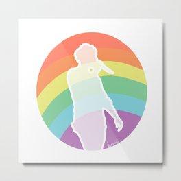 Rainbow Louis Metal Print