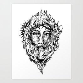 Jesus Fire  Art Print