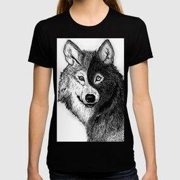 Ying Yang Wolf T-shirt