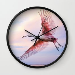 Roseate Evening Wall Clock