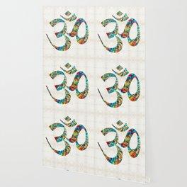 Colorful Om Symbol - Sharon Cummings Wallpaper