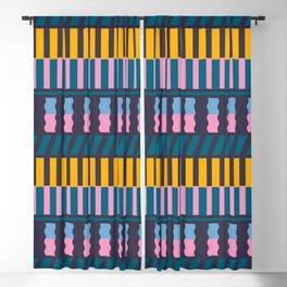 color blocking Blackout Curtain
