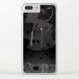The Black - Black Belladonna Clear iPhone Case