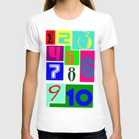 numbers T-shirts featuring FUNNY NUMBERS by Vivian Fortunato
