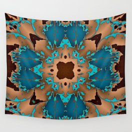 Brown Blue Azalea 1 Wall Tapestry