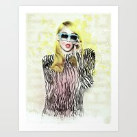 2ne1 Art Prints featuring 2NE1 - CL (BAZAAR) by Margot Park