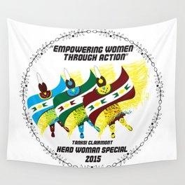 """Empowering Women Through Action"" Wall Tapestry"
