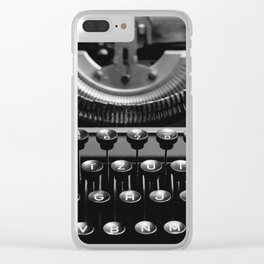 Typewriter No.4 Clear iPhone Case