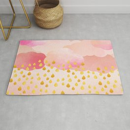 Rose gold rainshowers Rug