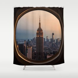 New York Window View (Empire State Building) Shower Curtain
