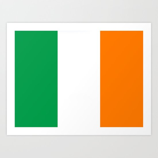 Irish national flag Art Print