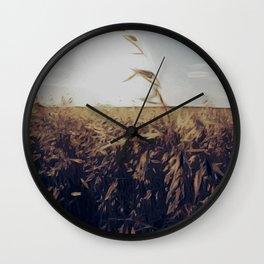 Harvest in Iowa Wall Clock