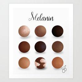 Melanin Art Print