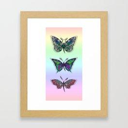 Rainbow Butterflys Framed Art Print