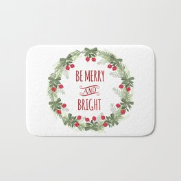 Be Merry and Bright Christmas Bath Mat