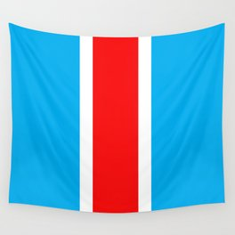 TEAM COLORS 10...RED , WHITE LIGHT BLUE Wall Tapestry