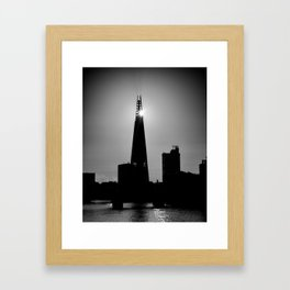 The Shard With The Morning Sun Framed Art Print