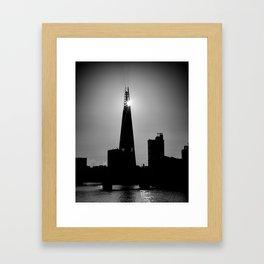 The Shard With The Morning Sun Framed Art Print