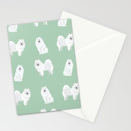 Japanese Spitz pure breed dog pattern pet gifts for dog lovers Stationery Cards