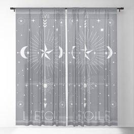 L'Etoile or The Star Tarot Sheer Curtain