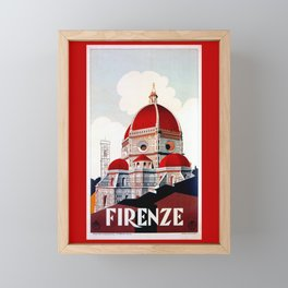 Florence Firenze Basilica Framed Mini Art Print