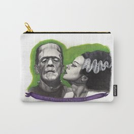 Watercolor Painting of Frankenstein & Bride Carry-All Pouch