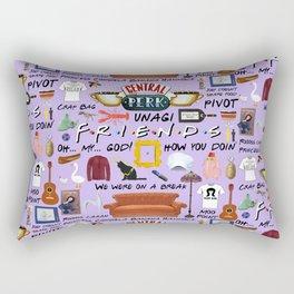 Friends Collage, purple Rectangular Pillow