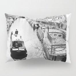 London canal during winter Pillow Sham