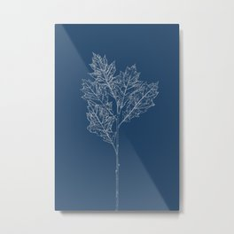 English Oak Blueprint Metal Print